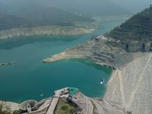 Tehri Dam. I click this pic when i go to Tehri dam . This is very beautiful dam I took  several picture but I like this most . This is side view of the dam royalty free stock photos