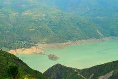 Tehri Lake in Uttarakhand, India. This is photograph of Tehri Lake, located in Tehri Garhwal region of Uttarakhand, India Royalty Free Stock Images