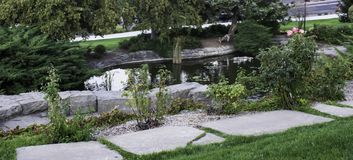Teich bei Boise Depot stockbilder