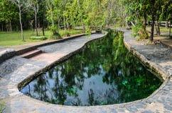 Teich der heißen Quelle Stockfotos