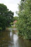 Teich in der Stadt Ribe Lizenzfreie Stockbilder