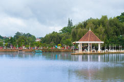 Teich des Blumen-Parks, Dalat, Vietnam Stockbild