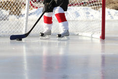 Teich-Hockey Stockbild