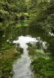 Teich im Heiligen Naum macedonia lizenzfreies stockbild