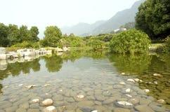 Teich im Park Lizenzfreie Stockfotos