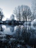 Teich im Silber Stockfoto