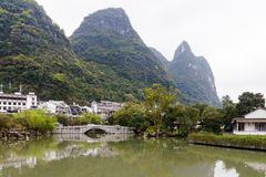 Yangshuo Dorf lizenzfreies stockfoto