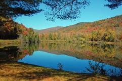 Teichlandschaftsreflexion Lizenzfreies Stockfoto
