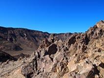 teide国家公园火山的风景在特内里费岛 免版税图库摄影