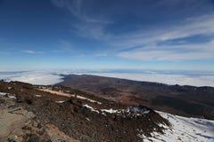 从Teide的视图 库存照片