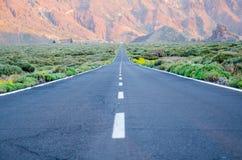 teide дороги к Стоковое Изображение