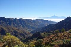 Teide от Degollada de Peraza стоковые фотографии rf