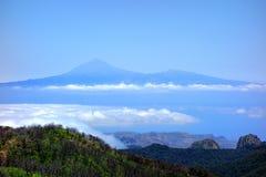Teide от Garajonay Стоковое фото RF