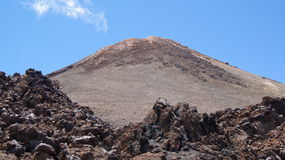 Teide. Peak and lava fields caldera view Royalty Free Stock Image