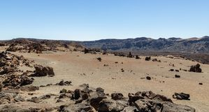 Teide Arid Desert Royalty Free Stock Photos
