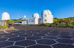 Teide astronomisch waarnemingscentrum in het Eiland van Tenerife, Spanje royalty-vrije stock foto