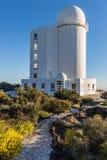Teide astronomisch waarnemingscentrum in het Eiland van Tenerife, Spanje royalty-vrije stock fotografie