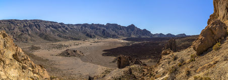 Teide Caldera Panoramic Royalty Free Stock Photography