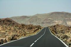 Free Teide Climb Road In Tenerife Spain Stock Photos - 122502833