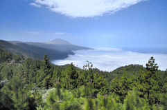 Teide and clouds Royalty Free Stock Photo
