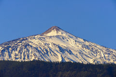 Teide covered by snow Royalty Free Stock Photos
