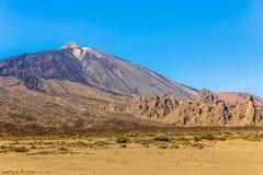 Teide dalla valle di Ucanca Fotografia Stock