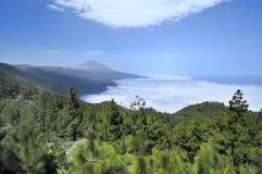 Teide e nubi Fotografia Stock Libera da Diritti