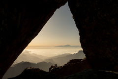 Teide framed Royalty Free Stock Photography