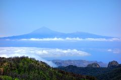 Teide from Garajonay Royalty Free Stock Photo