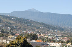 Teide from La Orotava Stock Photography