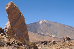 Teide from La Ruleta Royalty Free Stock Photo