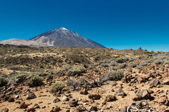 The Teide, Las Canadas, Tenerife, Spain Stock Photos