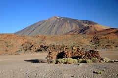 Teide 3718 m in Tenerife, is de Kanarie Royalty-vrije Stock Foto's