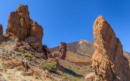 Teide między Roques Obrazy Royalty Free