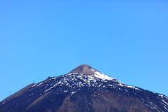 Teide mountain top Royalty Free Stock Photo
