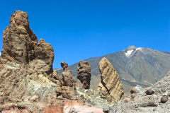 Teide National Park. Pico del Teide and Roques de Garcia,  Tenerife, Spain Stock Image