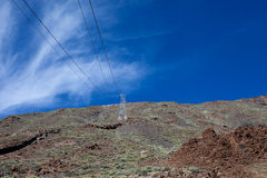 Teide National Park cable road Royalty Free Stock Photography