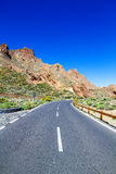 Teide national park road Royalty Free Stock Images