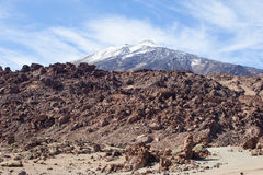 Teide National Park rocky view Royalty Free Stock Photo