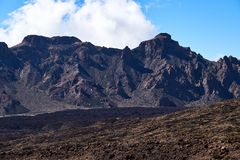Teide National Park Roques de Garcia in Tenerife at Canary Islands stock photos