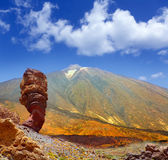 Teide National Park Roques de Garcia in Tenerife Royalty Free Stock Photography