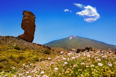 Teide National Park Roques de Garcia in Tenerife Royalty Free Stock Photo