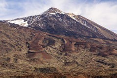 Teide National Park Roques de Garcia in Tenerife at Canary Islan Royalty Free Stock Photography