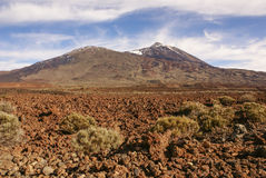 Teide National Park Roques de Garcia in Tenerife at Canary Islan Stock Photography