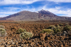 Teide National Park Roques de Garcia in Tenerife at Canary Islan Stock Images