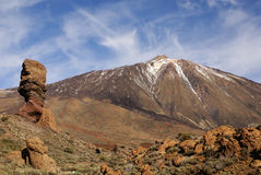 Teide National Park Roques de Garcia in Tenerife at Canary Islan Stock Photos