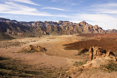 Teide National Park Roques de Garcia in Tenerife at Canary Islan Stock Image