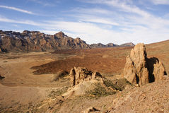Teide National Park Roques de Garcia in Tenerife at Canary Islan Royalty Free Stock Photo