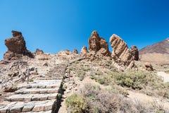 Teide National Park and Roques de Garcia Stock Photo