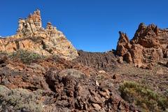 Teide National Park Roques de Garcia in Tenerife at Canary Islands. Teide National Park.Roques de Garcia Teide National Park stock images